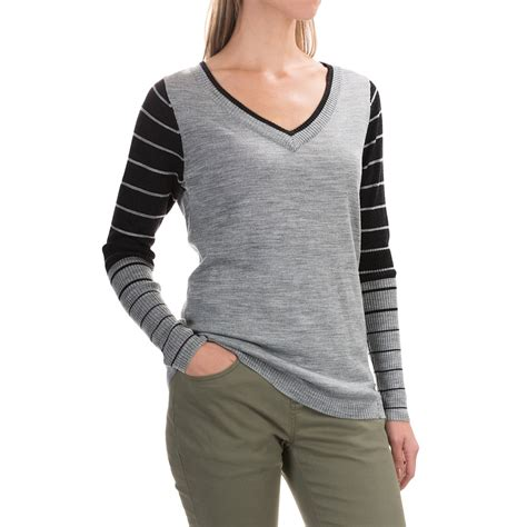 Oneck Stripes Grey stripe sweater sweater tunic