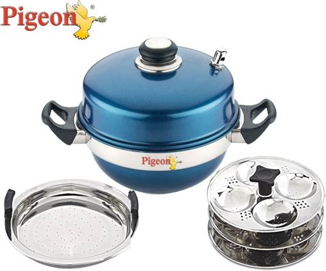 induction cooker kadai pigeon multi kadai blue induction standard idli maker price in india buy pigeon multi kadai