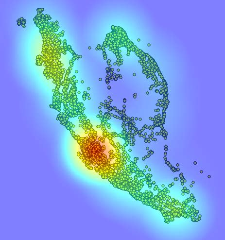 qgis tutorial heat map visualisation how to adjust the granularity of a heat