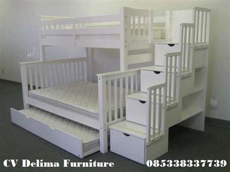 Ranjang Single Bed ranjang susun anak tempat tidur tingkat 3 bed harga
