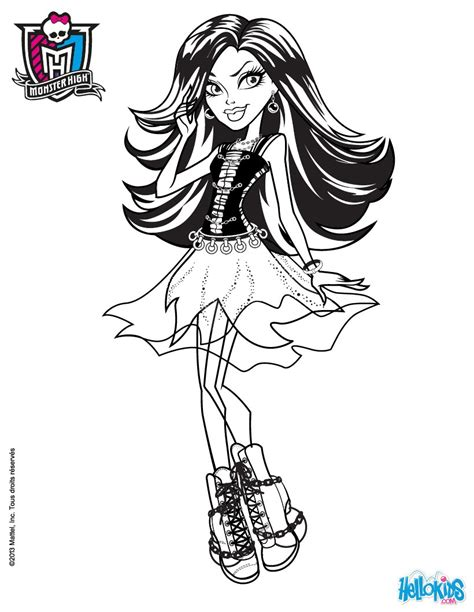 monster high spectra coloring pages spectra vondergeist coloring pages hellokids com
