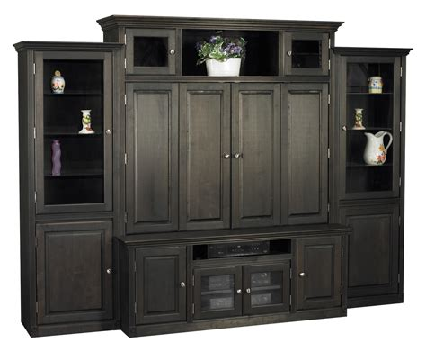 tv hutch with bifold doors for consoles and cabinets