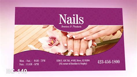 business cards nails template free business card nails salon salon printing
