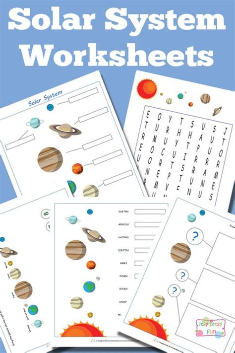Solar System Worksheet by Free Solar System Worksheets