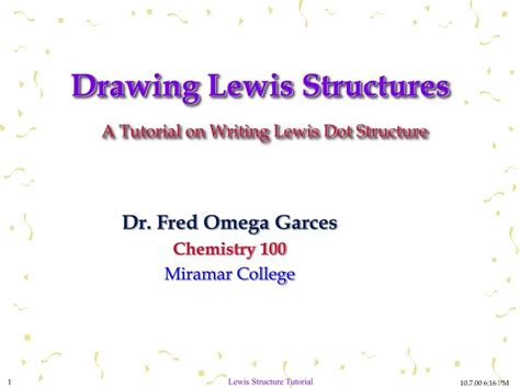 Ppt Drawing Lewis Structures A Tutorial On Writing Lewis
