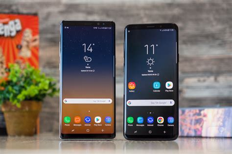 samsung galaxy s9 vs galaxy note 8
