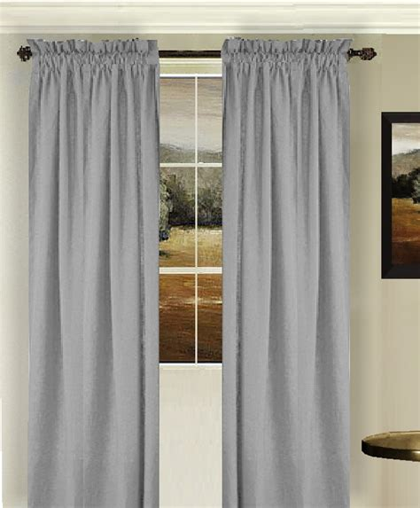 curtains gray solid light silver gray colored window long curtain