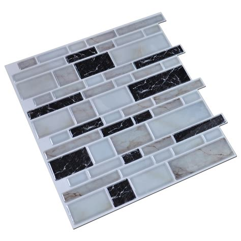 Tile Decals For Kitchen Backsplash Peel N Stick Kitchen Backsplash Tile Stone Brick Pattern