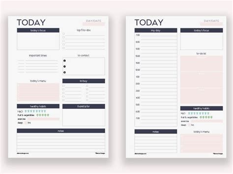 personal planner template two filofax personal daily planners printable inserts