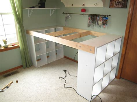 Build Office Desk Do It Yourself White Craft Desk