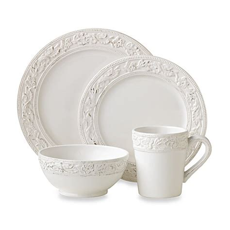 bed bath and beyond dish sets buy pfaltzgraff 174 country cupboard 16 piece dinnerware set
