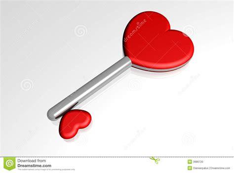 love key to hearts stock photo image 3986720