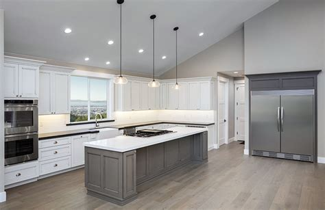 Kitchen Island Lighting For Vaulted Ceiling 30 Gray And White Kitchen Ideas Designing Idea