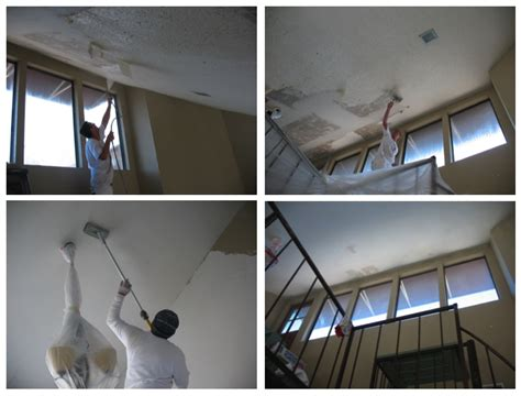 popcorn ceiling removal dallas removing the popcorn ceiling in stairway and kitchen