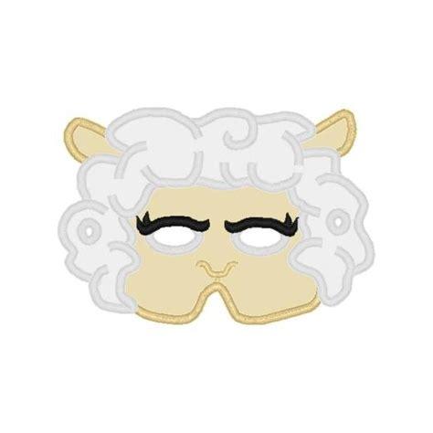 printable lamb mask lamb mask nobbieneezkids