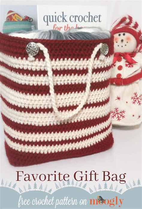 free crochet patterns easy christmas gifts favorite gift bag moogly