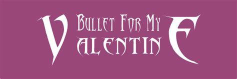 bullet for my font band font