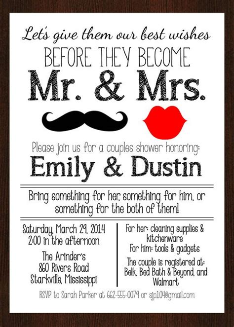 25 Best Ideas About Couples Shower Invitations On Pinterest Couples Wedding Shower Couples Wedding Shower Invitations Templates Free