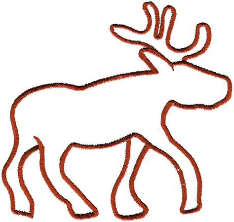17 Best Images About reindeer outline clipart best