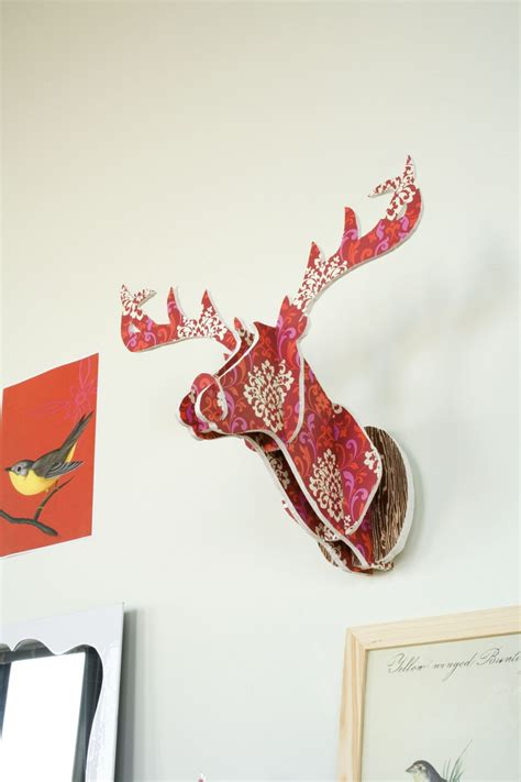 cardboard deer template chronicle craft make your own paper deer chronicle