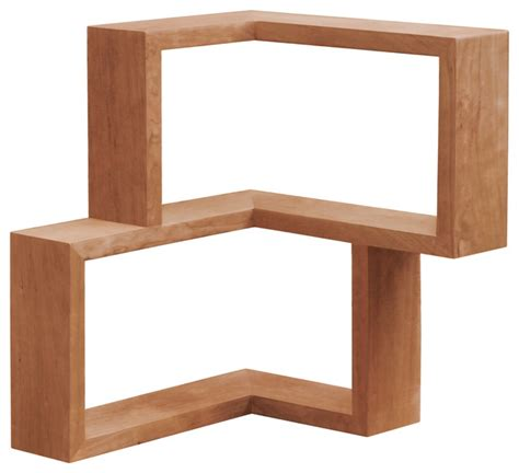 franklin shelf cherry modern display and wall