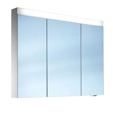 schneider mirrored bathroom cabinet schneider pataline 3 door led mirror cabinet 1000mm