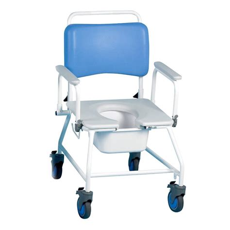 Used Commode Chair - bariatric wheeled shower commode chair with springaway