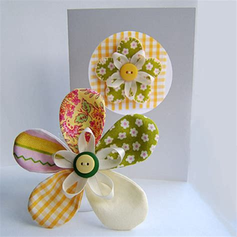 Handmade Fabric Crafts - folksy buy quot corsage greetings card gift set