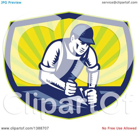 clipart of a retro woodcut clipart of a retro woodcut carpenter wearing a hat and