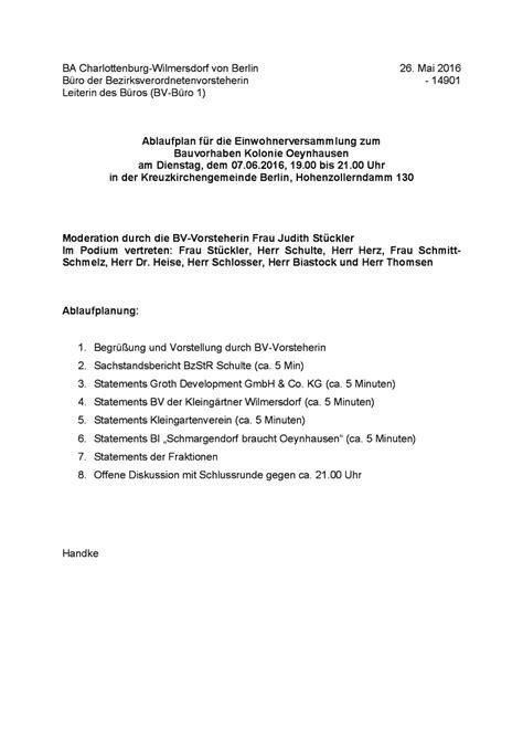 Presseeinladung Muster Offizielle Einladung Zur Einwohnerversammlung Kleing 228 Rtnerverein Oeynhausen