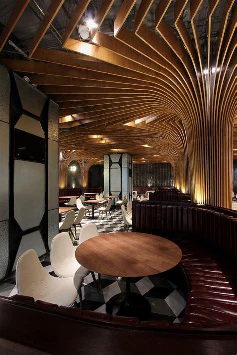 liu haowei supports restaurant  china  tree  columns
