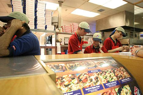 domino pizza working hours pizza worker taped boss sacking him because poles are