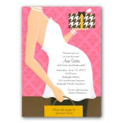 belly pink baby shower invitations paperstyle