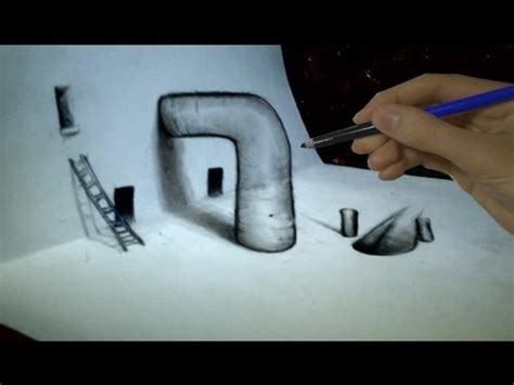 tutorial gambar 3d art how to draw 3d techniques ep 2 vf youtube