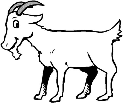Coloring Pages Of Goats 19 animal goats printable coloring sheet