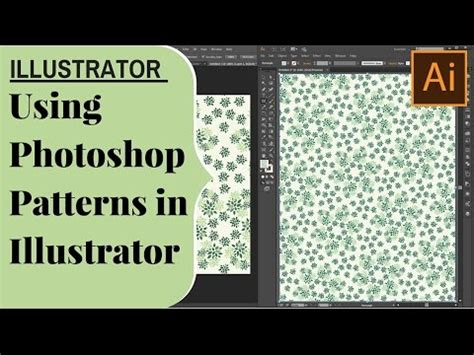Use Photoshop Pattern In Illustrator | how to use photoshop patterns in illustrator take
