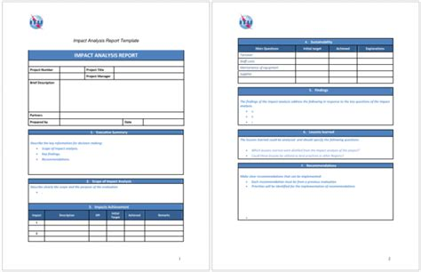 Soft Report Template Word 5 Impact Analysis Templates For Word Excel And Pdf
