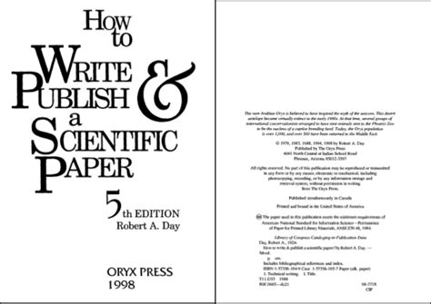 how to write publish a scientific paper how to write publish a scientific paper