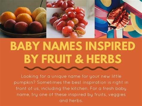8 Fruity Inspired Accessories by Baby Names Inspired By Fruit Herbs