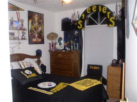 steelers bedroom steelers theme bedrooms pinterest