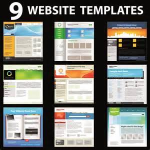 Free Homepage For Website Design 15 Vector Web Design Templates Images Header Design