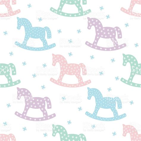 cute baby pattern stock vector image of horse collection baby shower background sorepointrecords