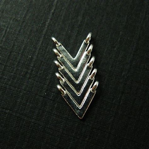 wholesale sterling silver chevron point connector charm
