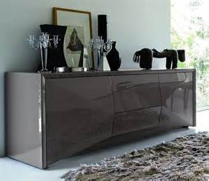 Modern Dining Room Buffet by Stylish Textured Rug And Glossy Buffett For Modern Dining