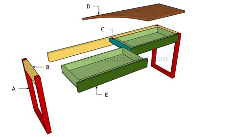 how to build a simple desk how to build a desk with drawers howtospecialist how