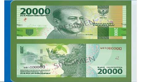 Fb 100 Mendominasi Rp 20000 inilah penakan 7 bunga di uang baru rupiah tribunnews