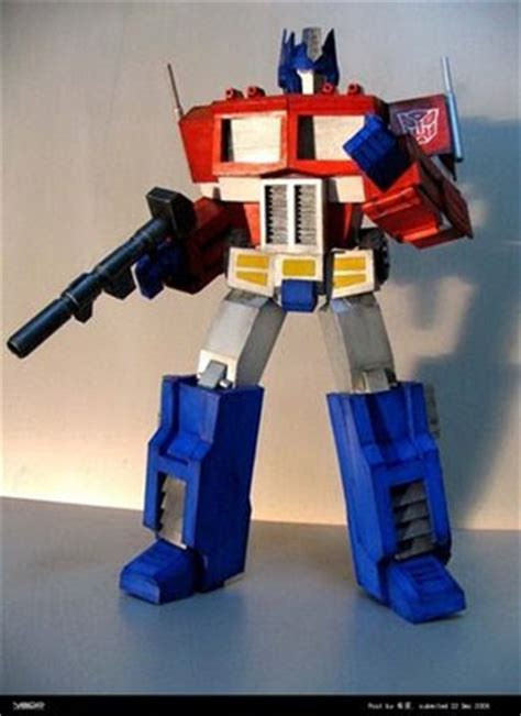 Papercraft Transformers Optimus Prime - my best paper craft model collections transformers