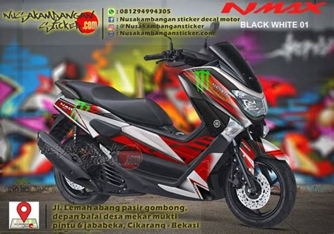 Striping Sticker Motor Decal Yamaha N Max Lapd 7 decal striping yamaha n max hitam putih 01 nusakambangan sticker nusakambangan sticker