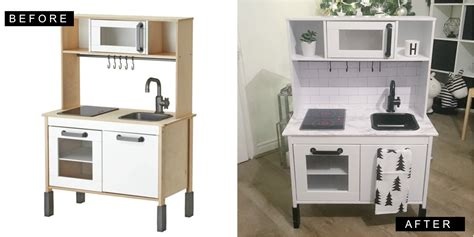 ikea play kitchen makeover ikea hack duktig play kitchen monochrome makeover oh so