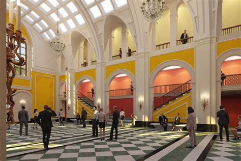 foyer of building shepherd school to ground on new and opera